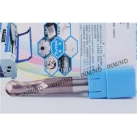 Quality HRC55 Long Shank Type Ball Nose End Mill With SiN Coating , H6 Tolerance for sale