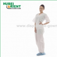 Quality Breathable 45gsm SMS Medical Disposable Pajamas for sale