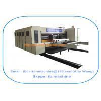 Buy TB600 1800*2500mm paperboard carton box flexo printing slotting machine with 4 color at wholesale prices