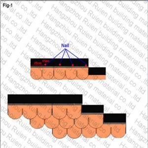 Copper Yellow Fish Scale Asphalt Shingles Lightweight 2