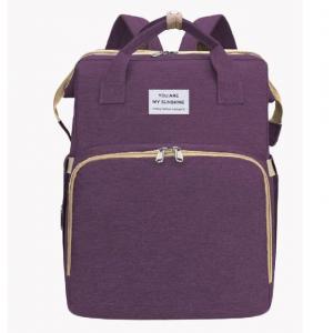 Quality Multiple Pockets Nylon Foldable Crib 20L Mummy Diaper Bag for sale