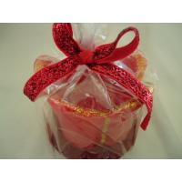 Quality Jasmine / lavender red Christmas scented candles flower shape for sale