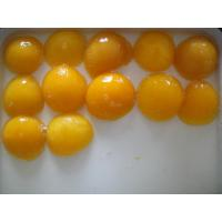 Quality Light Syrup Canned Fruit , Sweet Canning Fresh Yellow Peach Halves for sale