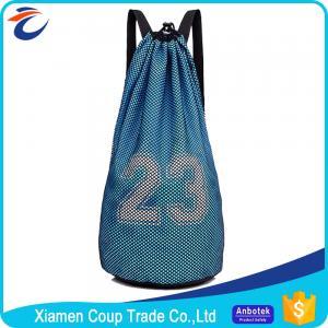 Quality Men'S Custom Sports Bags Basketball Training Nylon Drawstring Bag Backpack for sale