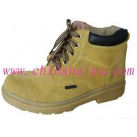 Quality Yellow Rubber Outsole Steel Toe Safety Shoes for sale
