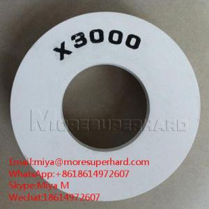 Quality X3000 , X5000, 10S cerium polishing wheel for straight,double line edger.miya@moresuperhard.com for sale