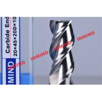 Quality HRC50 End Mill Bits For Aluminum 3 Flute No Coating Grain Size 0.8 um Bright Surface for sale