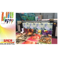 Quality 3.2m Flag Printer Direct Digital Banner Printer For Printed Fabric Color Fix / Appear for sale