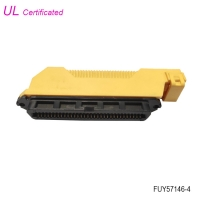 Quality 64 Pin Female Centronic IDC Connector With PBT Insulator Material and Hood for sale