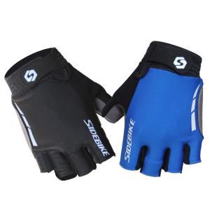 China Half Finger Waterproof MTB Gloves , Mens / Womens Waterproof Cycling Gloves on sale