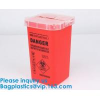 Quality Biohazard Plastic Sharps Container,Hospital Biohazard Medical Needle Disposable Plastic Safety Sharps Container for sale