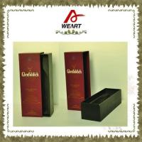 Quality Luxury Black Cardboard Paper Wine Top And Bottom Rigid Gift Boxes Without Handle for sale