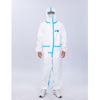 Quality Dustproof Polymer Medical Protective Coverall Disposable Isolation for sale