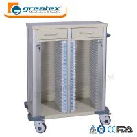 Quality Medical Appliances Comfortable Case History Holder Trolley with Wheels and Drawers for sale