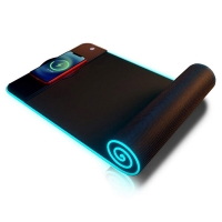 Buy cheap Computer Large LED USB Waterproof Mouse Pad Qi Wireless Charging For Desk Mat from wholesalers