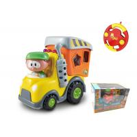 Quality Toddler Plastic RC Cartoon Block Cars Infant Baby Toys 18 Months Radio Control for sale