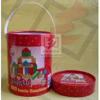 Buy cheap Handle Paper Cans Packaging Offest / CMKY / PMS Print Recoverable from Wholesalers