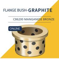 Quality UNS C86200 SEA 430A Wear Plate C862 Manganese Bronze Plugged Graphite Cast Flange Bushing for sale