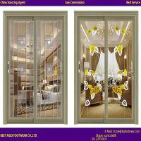Quality 2015 best selling Aluminium two panel Laminated glass tilt and turn door for sale