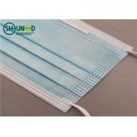 Quality Wholesale surgical and civil use anti-virus anti-smog disposable blue face mask for sale