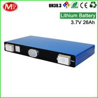 Buy cheap High power output solar battery 3.7V 26Ah rechargeable lithium ion battery from wholesalers
