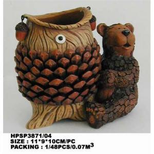 China Resin bear;bear figurine,resin animal crafts on sale