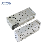 Buy cheap 40pin Female Small Form Factor Pluggable SFP+ Cage Connector from wholesalers