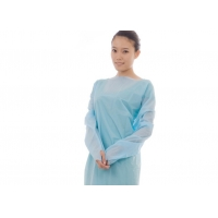 Quality Free Size Long Sleeve Disposable CPE Gown With Thumb for sale