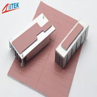 Buy cheap Pink Heat Dissipation Fins Thermal Gap Filler For LED - lit Lamps -50 - 200℃ Continuos Use Temp 1.0 W/m-K from wholesalers