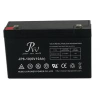 China Lead Acid Alarm System Battery 6V 10AH , VRLA Batteries For Fire Alarm Systems on sale