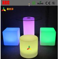 Buy cheap Changeable Colors LED Table And Chairs , Rechargeable LED Bar Chair With Round from wholesalers