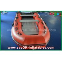 China Durable Tarpaulin PVC Inflatable Boats with Aluminum Floor and Paddles on sale