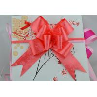 Quality Rose Printed or Heart logo Pull bow for Holiday and valentaine day gift packing for sale
