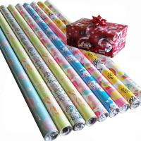 Quality 76.2cm x 3.39m 80gsm art paper custom printed christmas gift wrapping paper for sale