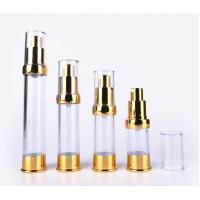 Buy cheap Gold Plastic Cosmetic Packaging 15ml 30ml 50ml Airless Pump Bottle from wholesalers