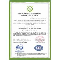 FOREVER MANUFACTURING AND TRADE CO., LIMITED Certifications