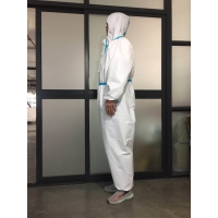 Quality Medical Non Woven Conjoined CE FDA XXL Pressed Disposable Isolation Gown for sale