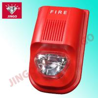 Quality Addressable fire security alarm systems 24V strobe horn,flash light with sounder for sale