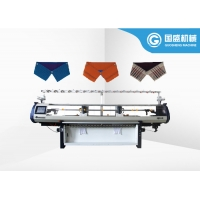 Quality Home Polo Fabric Double Carriage Collar Knitting Machine for sale