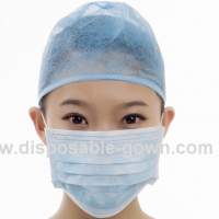 Quality FDA Spatter Prevention Disposable Medical Face Mask With Earloop for sale