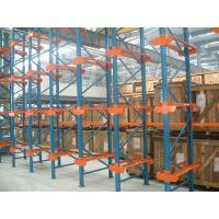 Quality Dairy industry Single bracket drive in rack with stock movement , 10M for sale