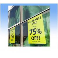 Quality static window cling for sale