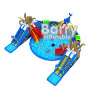 China Giant Octopus Water Amusement Park , Portable Blow Up Water Park With Floating Toys on sale