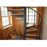 Walnut Tread Custom Spiral Staircase With Round Post Glass Balustrade Images