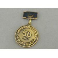 Zinc Alloy Custom Awards Medals Die Costing Antique Gold Double Side 3D Military