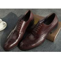 Buy Narrow Style Mens Leather Oxford Shoes , Comfy Modern Office Mens Shoes at wholesale prices