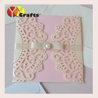 wedding invitation card Butterfly Ribbon Wedding Invitation card Laser Cut card Elegant Folded Wedding Invitation card