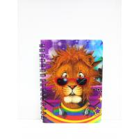 Quality 400 DPI PET / PP A6 3D Lenticular Notebook / Spiral Diary Book for sale