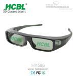 Quality Button Battery Active Shutter 3D Glasses / Eyeglasses For DLP Projector / Xpand Cinema / 3D TV for sale