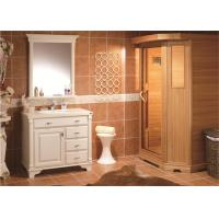 China Quartz Countertops Bathroom Cabinets And Vanities Classic Design Pvc Finish on sale